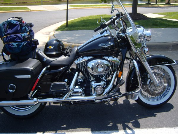 I was riding a Harley Davidson Road King