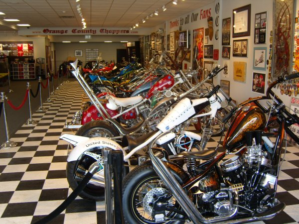 inside Orange County Choppers showroom