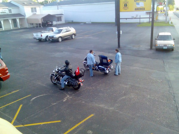 MC riders from Switzerland in Rolla