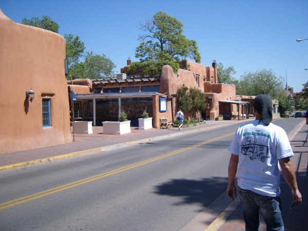 Walking in Santa Fe