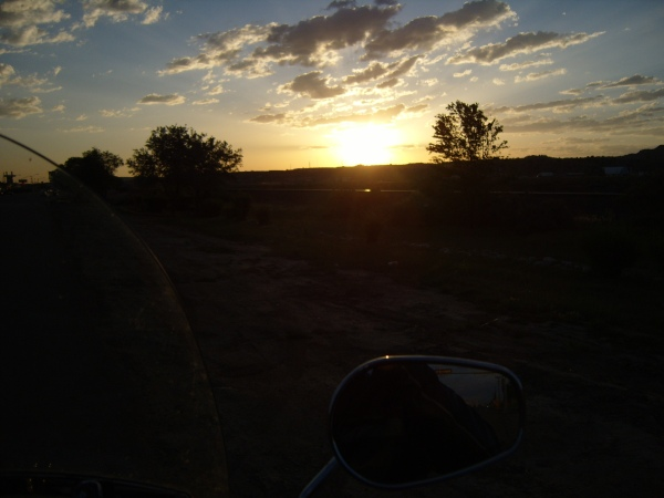 sunset in Gallup