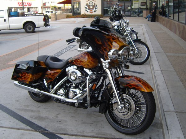 Beautiful painted Harley Davidson