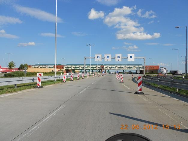 The border crossing Bratislava Slovakia
