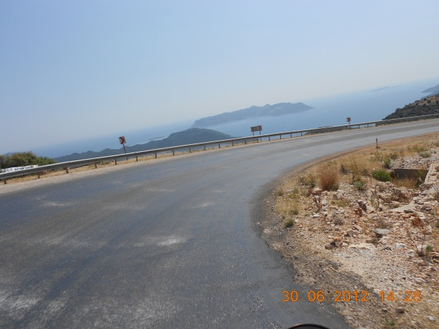 Oljete Tyrkiske veier som strøes med sand