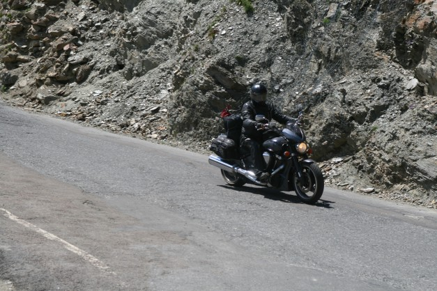 Yamaha RoadStar XV1700 Warrior in Passo dello Stelvio Italy