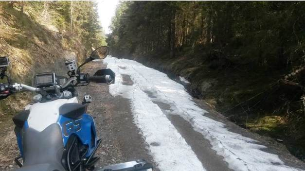 Snø i Arendal