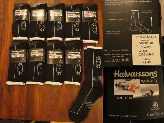 Halvarssons Sock Wembley 660001-10, svart/hvit