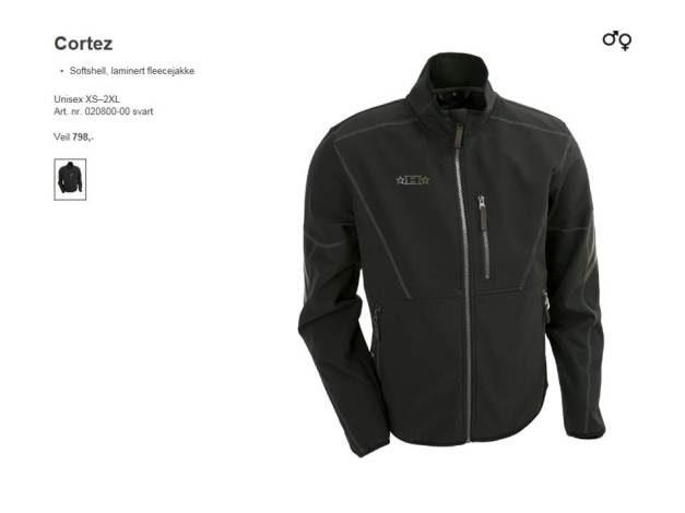Halvarssons Cortez Softshell Fleecce Art. nr. 020800-00