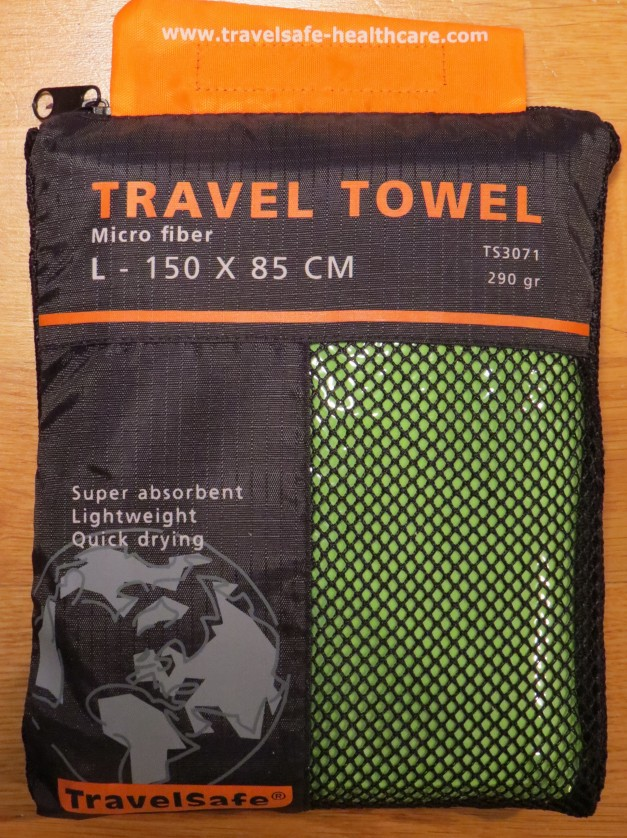 Micro Fiber Towel from http://travelsafe-healthcare.com