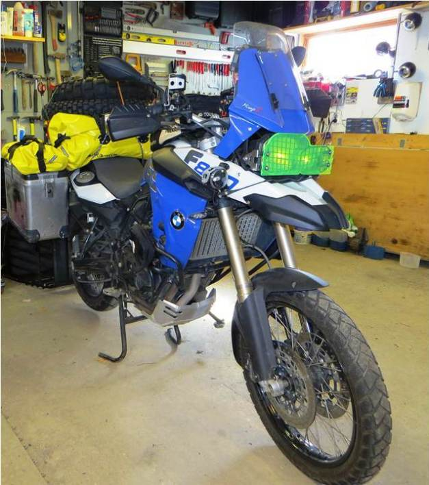 BMW F800GS Nytt blinklys