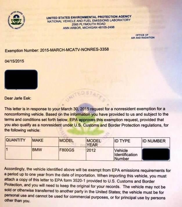 EPA Exemption