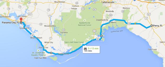 2015_07_22_05_35_29_Perry_FL_USA_til_Panama_City_Florida_USA_Google_Maps