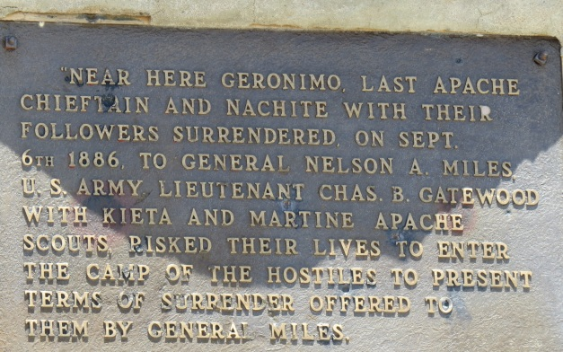 Geromino Historical marker sign