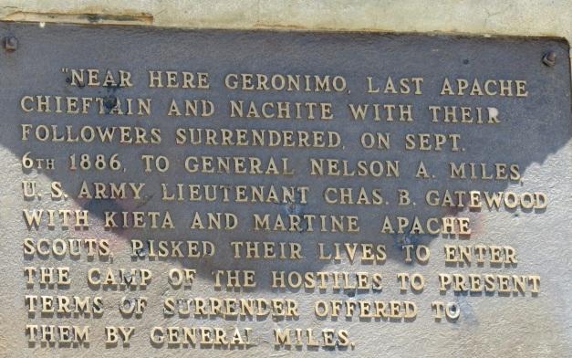 Geromino Historical marker sign