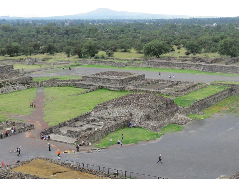 Utsikten fra Teotihuacán, pyramid of the sun