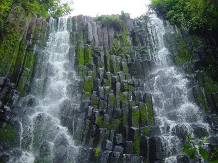 Los Tercios waterfall, Suchitot El Salvador