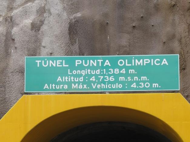 Cordillera Blanca Tunel Punta Olipica