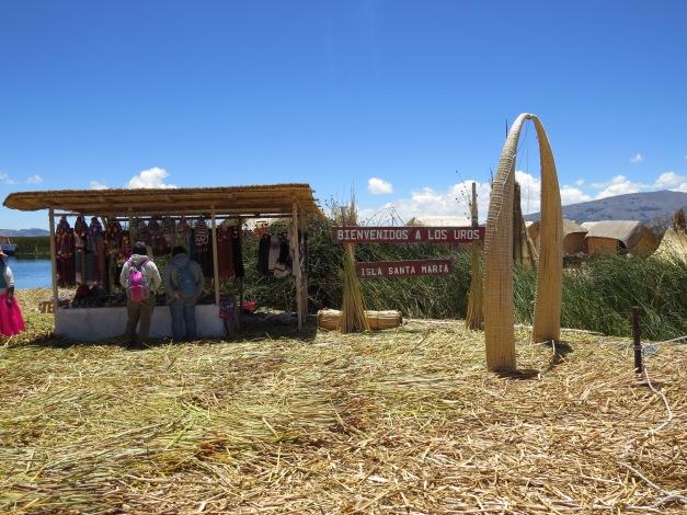 Lake Titicaca , Uros islands, Puno Peru