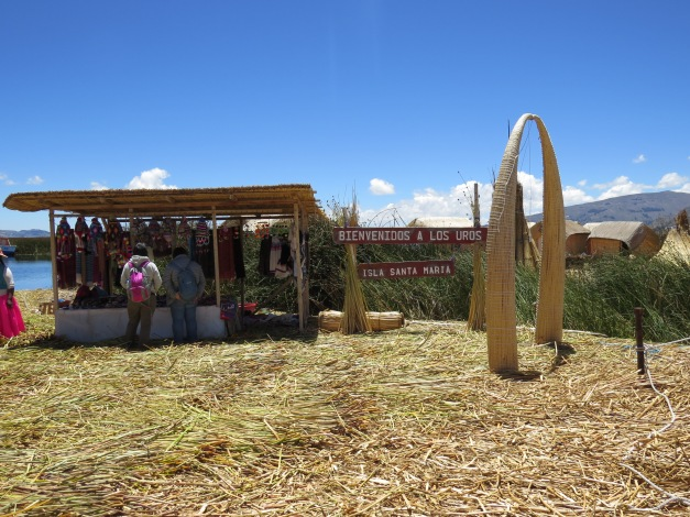Lake Titicaca , Uros islands, Puno Peru