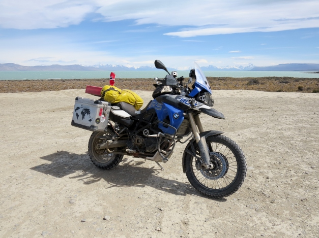 BMW F800GS in Patagonia Argentina