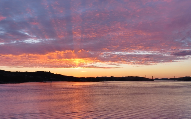 Solnedgang Bjorøy brygge