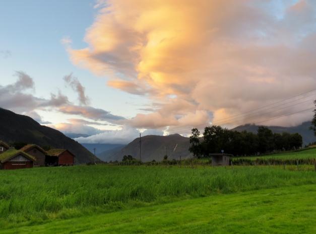 Utsikt fra Tistel Camping og Feriehytter