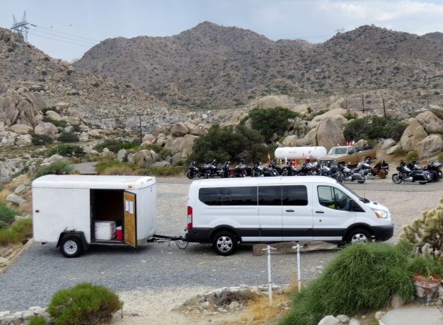 Van and trailer