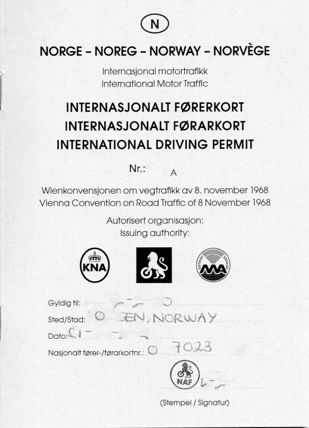 Internasjonalt Førerkort