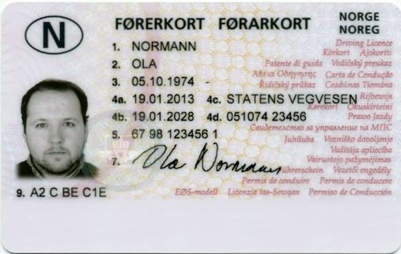 Norsk førerkort